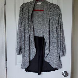 Knit and sheer blazer jacket